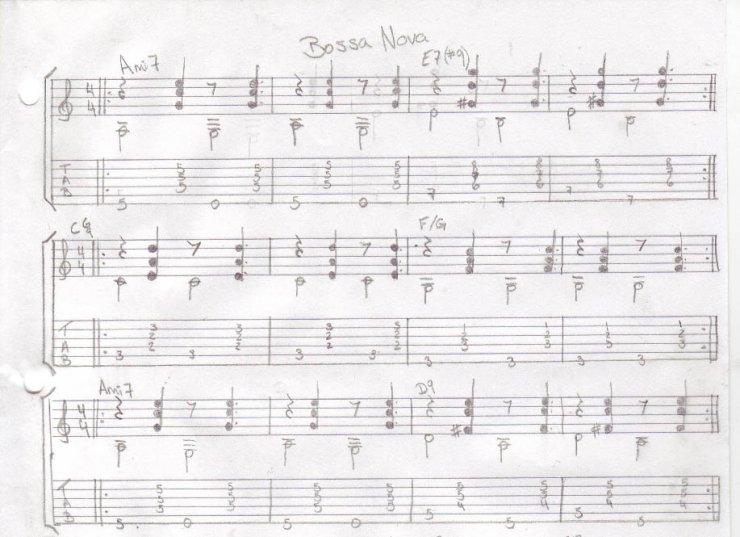 Piano u00bb Bossa Nova Piano Chords - Music Sheets, Tablature, Chords and Lyrics